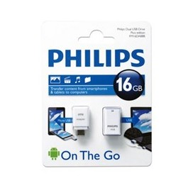 Philips Pico Edition FM16DA88B/97 USB 2.0 Flash Memory With OTG Adapter - 16GB