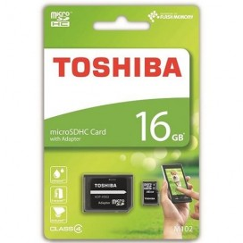 Toshiba HIGH SPEED M102 16GB 16GB MicroSDHC Class 4 with Adapter